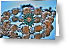0002 Turquoise And Pearls Greeting Card