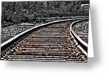 0003 Train Tracks Greeting Card