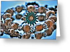 0003 Turquoise And Pearls Greeting Card
