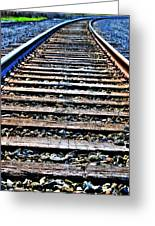 0004 Train Tracks  Greeting Card