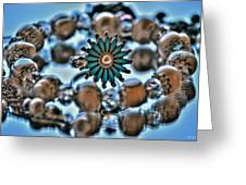 0004 Turquoise And Pearls Greeting Card