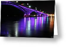 001 Peace Bridge Honoring Breast Cancer 2012 Series Greeting Card