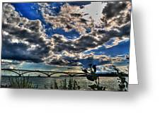 001 Peace Bridge Series II Beautiful Skies Greeting Card