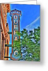 001 Sheas Buffalo Greeting Card