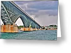 001 Stormy Skies Peace Bridge Series Greeting Card