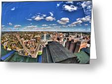 0017 Autumn Days Of Buffalo Ny Birds Eye Greeting Card