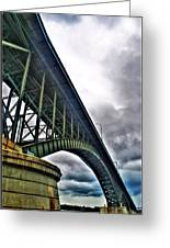 002 Stormy Skies Peace Bridge Series Greeting Card