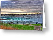 002 View Of Horseshoe Falls From Terrapin Point Series Greeting Card