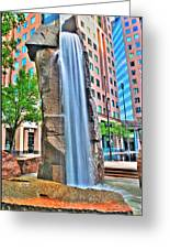 003 Fountain Plaza  Greeting Card