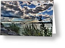 003 Peace Bridge Series II Beautiful Skies Greeting Card