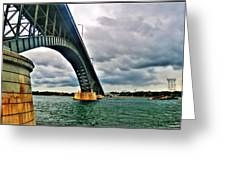 003 Stormy Skies Peace Bridge Series Greeting Card