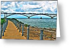 004 Stormy Skies Peace Bridge Series Greeting Card