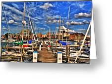 005 On A Summers Day  Erie Basin Marina Summer Series Greeting Card