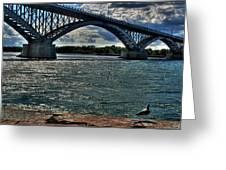 005 Peace Bridge Series II Beautiful Skies Greeting Card