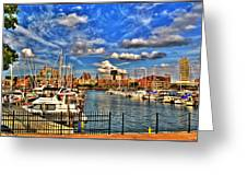 006 On A Summers Day  Erie Basin Marina Summer Series Greeting Card