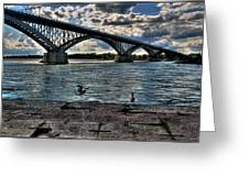006 Peace Bridge Series II Beautiful Skies Greeting Card