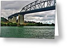 006 Stormy Skies Peace Bridge Series Greeting Card