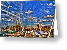 007 On A Summers Day  Erie Basin Marina Summer Series Greeting Card