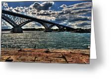 007 Peace Bridge Series II Beautiful Skies Greeting Card