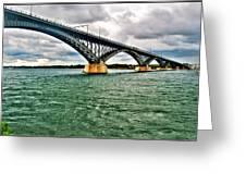 007 Stormy Skies Peace Bridge Series Greeting Card