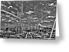 007bw On A Summers Day  Erie Basin Marina Summer Series Greeting Card