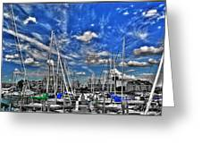 007sc On A Summers Day  Erie Basin Marina Summer Series Greeting Card