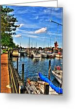 008 On A Summers Day  Erie Basin Marina Summer Series Greeting Card