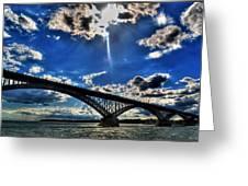 008 Peace Bridge Series II Beautiful Skies Greeting Card