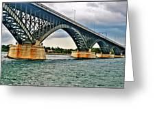 008 Stormy Skies Peace Bridge Series Greeting Card