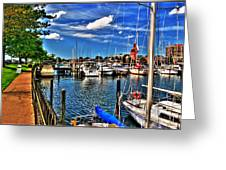 009 On A Summers Day  Erie Basin Marina Summer Series Greeting Card