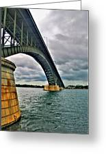 009 Stormy Skies Peace Bridge Series Greeting Card