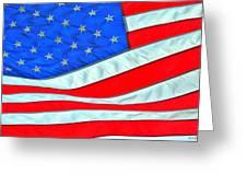 01 American Flag Greeting Card