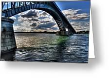 013 Peace Bridge Series II Beautiful Skies Greeting Card