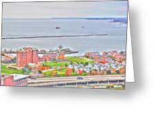 013 Series Of Buffalo Ny Via Birds Eye Erie Basin Marina Greeting Card
