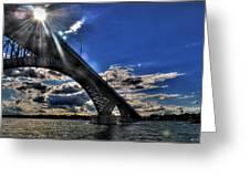 016 Peace Bridge Series II Beautiful Skies Greeting Card
