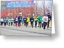 017 Shamrock Run Series Greeting Card