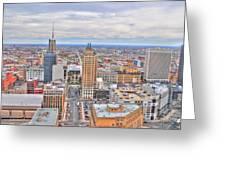 02 Series Of Buffalo Ny Via Birds Eye East Side Greeting Card