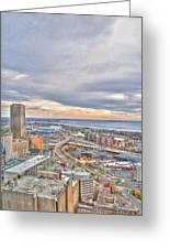 022 Series Of Buffalo Ny Via Birds Eye Downtown Buffalo Ny Greeting Card