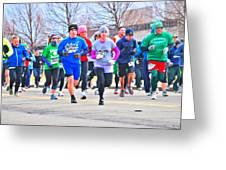 029 Shamrock Run Series Greeting Card