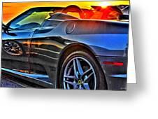 03 Ferrari Sunset Greeting Card