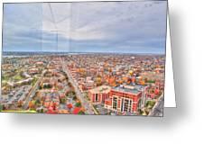 031 Series Of Buffalo Ny Via Birds Eye West Side Greeting Card