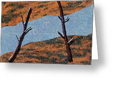 0361 Abstract Landscape Greeting Card