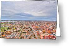 040 Series Of Buffalo Ny Via Birds Eye West Side  Greeting Card