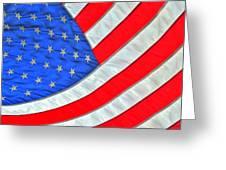 05 American Flag Greeting Card