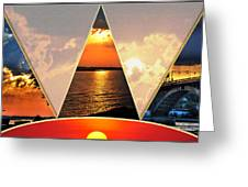 0a Relaxing Sunsets Collage Greeting Card