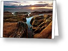Red Rock Beach Greeting Card