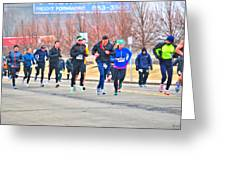 012 Shamrock Run Series Greeting Card