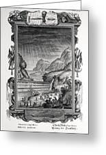 1731 Johann Scheuchzer Noah's Ark Flood Greeting Card by Paul D Stewart