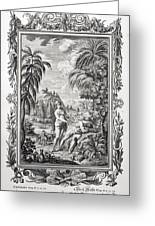 1731 Scheuchzer Creation Adam & Eve Greeting Card