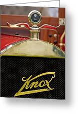 1909 Knox Open Touring Hood Ornament Greeting Card